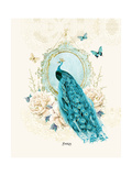 Peacock Giclee Print by Wendy Paula Patterson