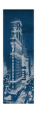 Times Square Postcard Blueprint Panel Premium Giclee Print by Hugo Wild