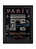 Travel to Paris II Giclee Print by Daphne Brissonnet