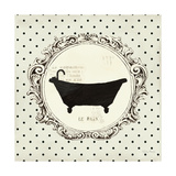 Cartouche Bath Poster by Emily Adams