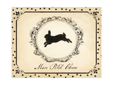 Cartouche Lapin II Giclee Print by Emily Adams