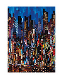 Night Colour Show Giclee Print by Serge Mendjisky