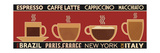 Deco Coffee Panel I Giclee Print by  Pela