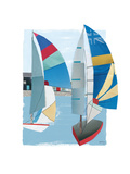 Summer Sail I Posters by Kate Rowley