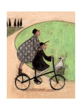 Double Decker Bike Giclee Print by Sam Toft
