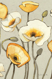Jaune Gris III Crop Print by Shirley Novak