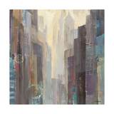 City at Dawn Premium Giclee Print by Hristova Albena