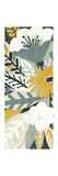 Vintage Bouquet Yellow Panel I Premium Giclee-trykk av Michael Mullan