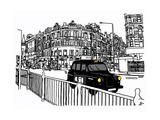 Taxi Giclee Print by Frank Kiely