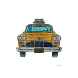 New York Taxi Giclee Print by Barry Goodman