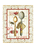 Rose Garden Utensils II Red Prints by Lisa Audit