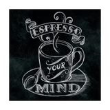 Espresso Your Mind Square Giclee Print by Mary Urban