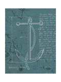 Coastal Blueprint VIII Dark Giclee Print by Marco Fabiano