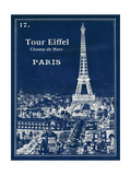 Blueprint Eiffel Tower Prints by Sue Schlabach