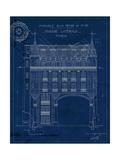 Quai Henri Blueprint II Reproduction procédé giclée par Hugo Wild