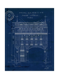 Quai Henri Blueprint II Prints by Hugo Wild