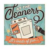 The Cleaners II Giclee-tryk i høj kvalitet af Pela
