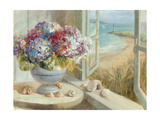 Coastal Hydrangea Premium Giclee Print by Danhui Nai