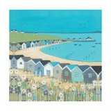 Beach Huts Giclee Print by Janet Bell