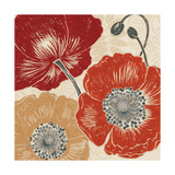 A Poppys Touch II Giclee Print by Daphne Brissonnet