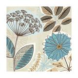 Funky Flowers IV Print by  Pela