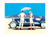 Bonnerville Salt Flats Giclee Print by Mike Maurice