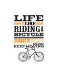 Riding a Bicycle Giclee Print by Clare Somerville-Perkins