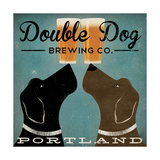 Double Dog Brewing Co. Plakater af Ryan Fowler