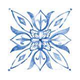 Tile Stencil II Blue Posters by Anne Tavoletti