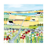 Bright Meadow Giclee Print by Janet Bell