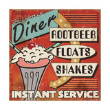 Diners and Drive Ins III Giclee Print by  Pela