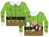 Long Sleeve: Christmas Elf Costume Tee T-shirts manches longues