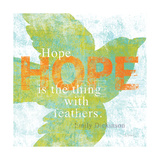 Letterpress Hope Posters by Sue Schlabach