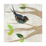 Birds in Spring III Square Prints by Courtney Prahl