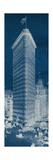 Flat Iron 1909 Blueprint Panel Giclee Print by Hugo Wild