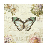 Marche de Fleurs Butterfly II Giclee Print by Lisa Audit
