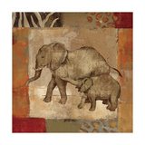Animals on Safari III Print by Silvia Vassileva