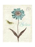 Slated Blue IV Believe Giclee-trykk av Katie Pertiet