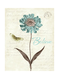 Slated Blue IV Believe Giclee Print by Katie Pertiet