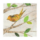 Birds in Spring II Square Posters by Courtney Prahl