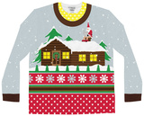 Long Sleeve: Santa on Break Ugly Xmas Sweater T-shirts