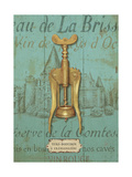 Antique Corkscrew III Blue Giclee Print by Daphne Brissonnet