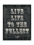 Live Life Floral Chalk Giclee Print by Moira Hershey