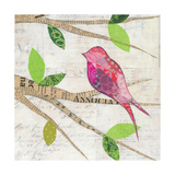 Birds in Spring IV Square Posters by Courtney Prahl