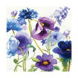 Blue and Purple Mixed Garden I Premium Giclee Print by Shirley Novak