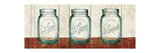 Flea Market Mason Jars Panel II Table Premium Giclee Print by Hugo Wild