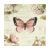 Marche de Fleurs Butterfly I Giclee Print by Lisa Audit