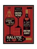 Wine Words II Prints by  Pela