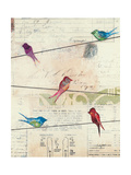 Birds on a Wire Giclee Print by Courtney Prahl