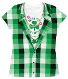 Juniors: Kiss Me I'm Irish Costume Tee T-shirts